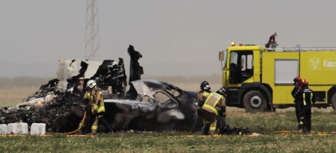 Accidente de avión en Sevilla