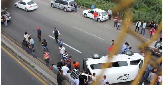 Accidente en transporte público
