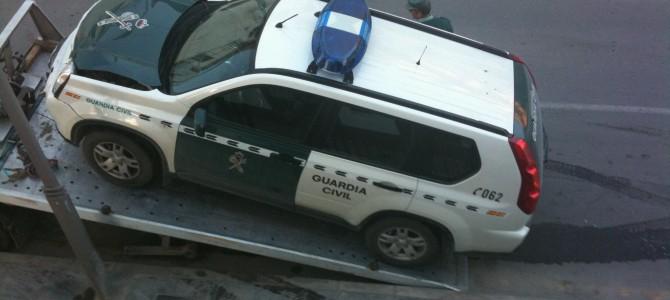 Un guardia civil denuncia el mal estado de los vehículos oficiales